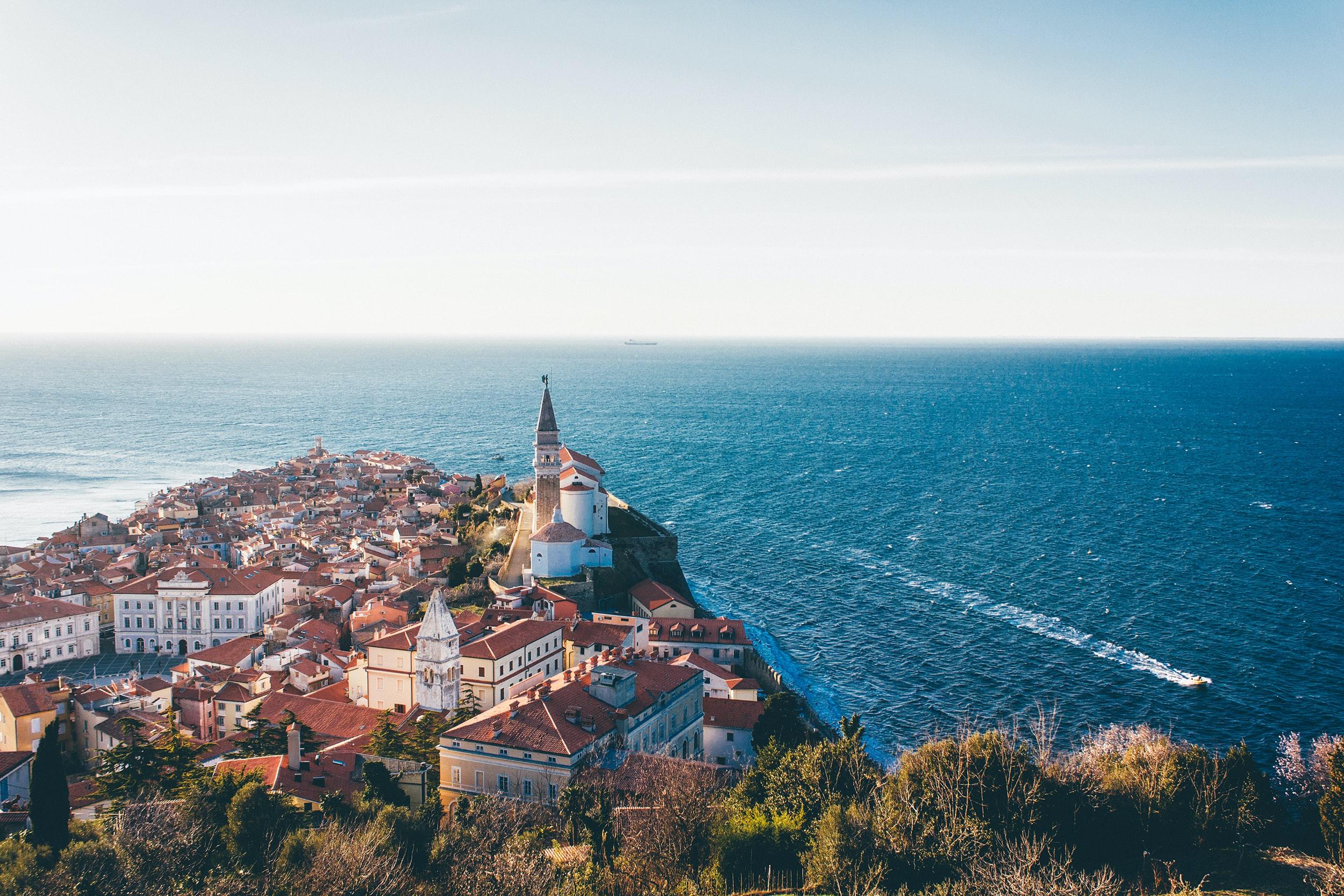 a coastal town in slovenia