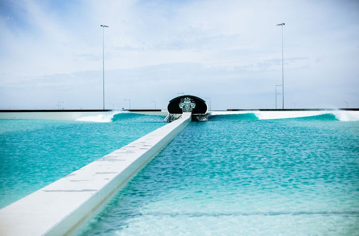 The wave pool at Urbansurf