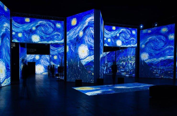 The exhibition, Van Gogh Alive.