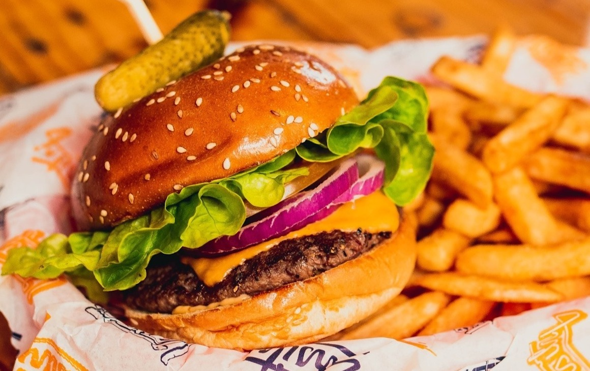 One of Perth's best burgers, from Varsity Burgers