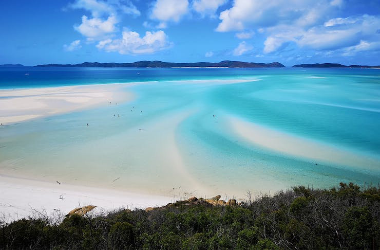 a beach in the whitsundays