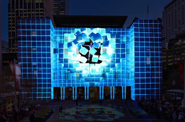 The VORAX installation created for Vivid Sydney 2021.