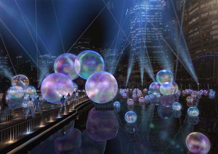 The Ephemeral installation created for Vivid Sydney 2021.