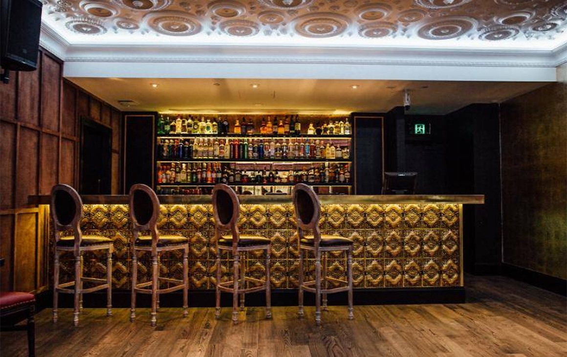 Vodka Room's Private dining area the rose room