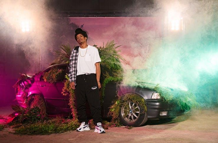 A campaign photo shoot for the Puma x Von Dutch streetwear collab.