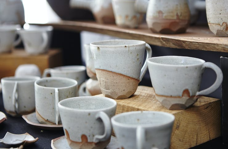 ceramics at Bendigo Market