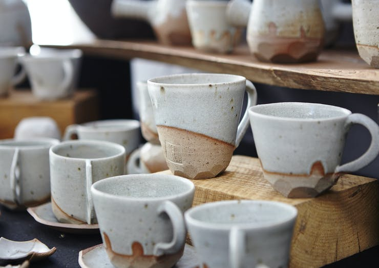 ceramics at Bendigo Market