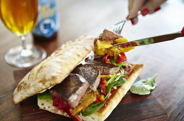 steak sandwich in Bendigo