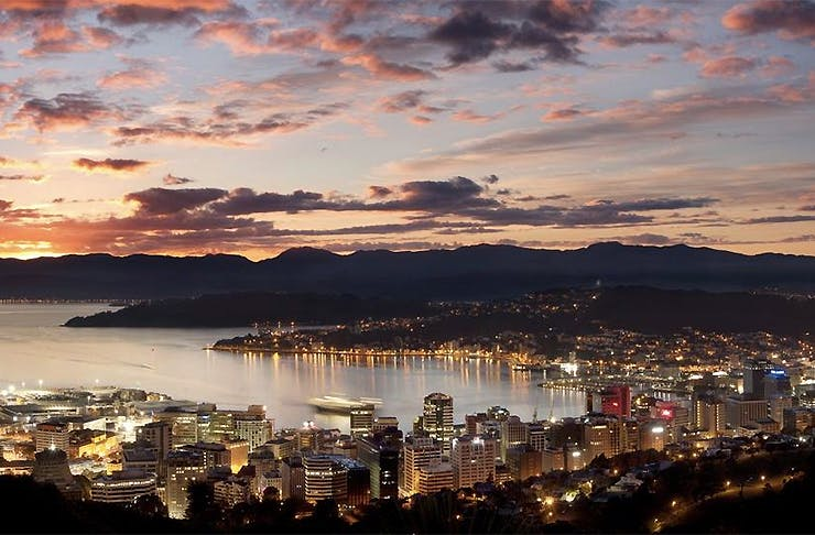 View over Wellington at Dusk