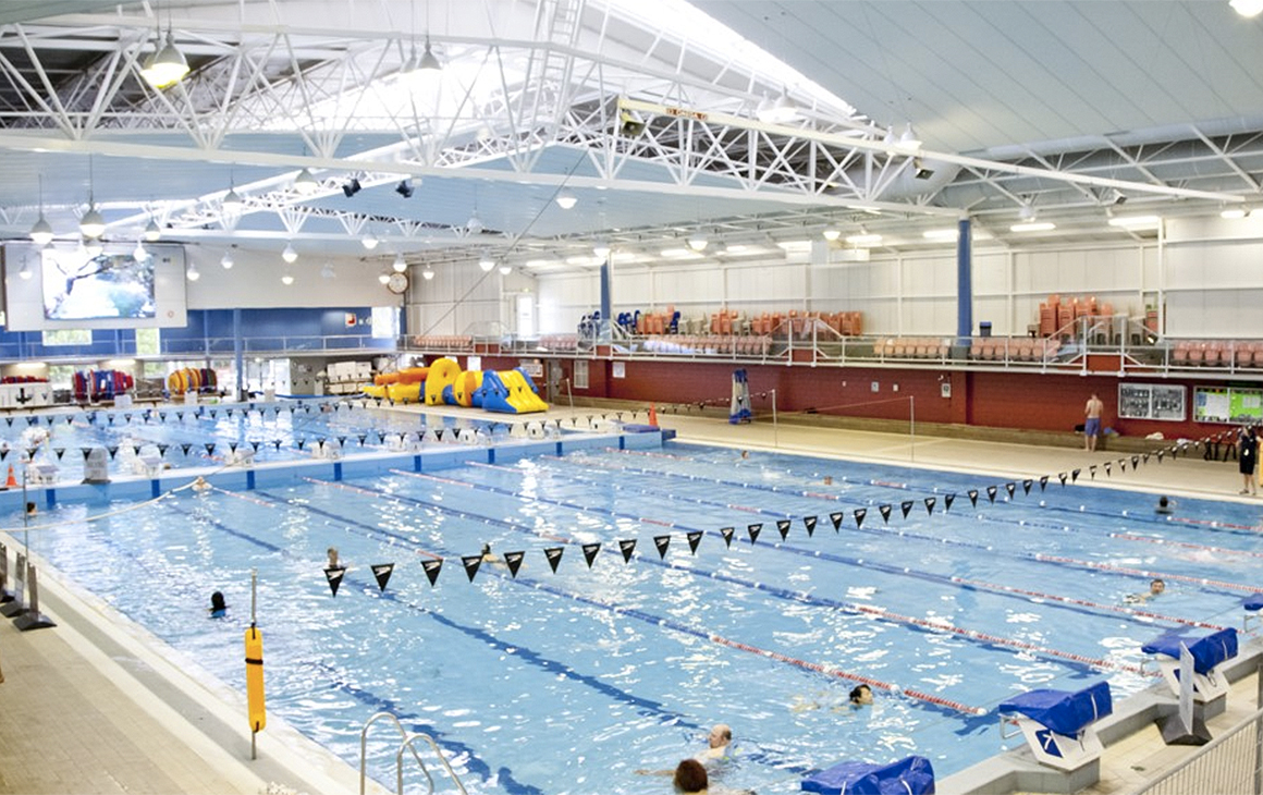 A view from the end of the West Wave Pool and Leisure Centre in Henderson.