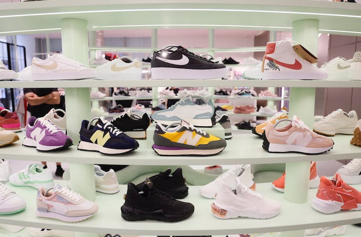 sneakers inside the new Sylerunner store which opens this month in Perth