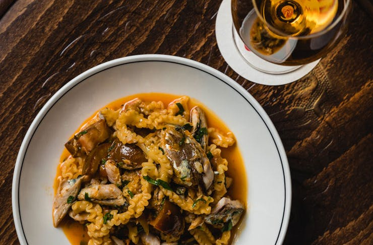 A gluten-free pasta dish from Ragazzi in Sydney.