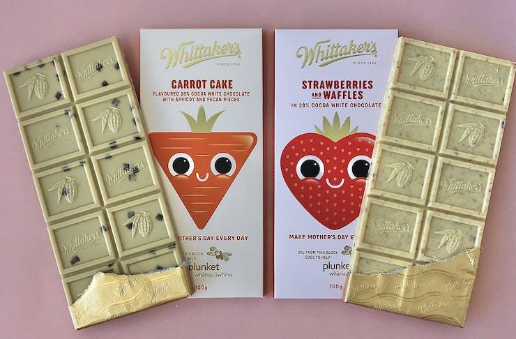 Cute as a button Whittaker's chocolate blocks.