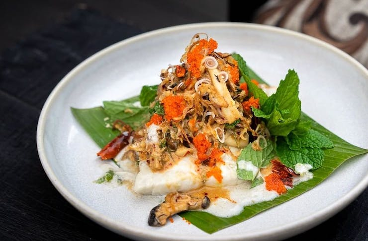 a dish from Will Meyrick's Sarong restaurant in Bali