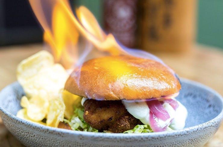 Monsoon Poon's Fyre Burger
