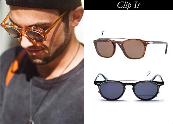 Optiko eyewear Brisbane, Barton Perreia clip on sunglasse, Persol clip on sunglasses