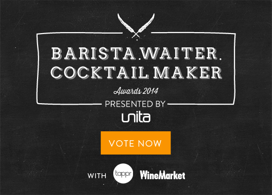 Vote Now: Barista, Waiter, Cocktail Maker 2014