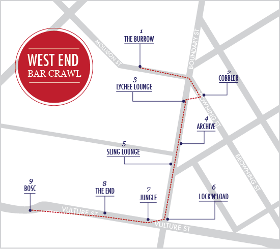 West End Bar Crawl