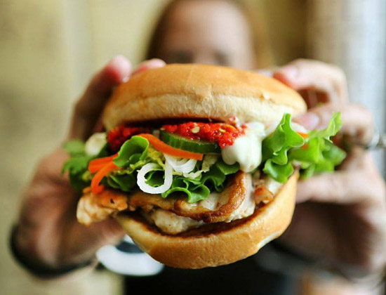 Neil Perry's Burger Joint chicken burger