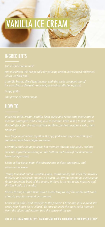 Vanilla Icecream recipe