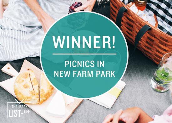 Great Urban List Off Winner | Picnics in New Farm Park