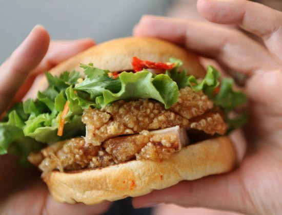 Neil Perry's Burger Joint pork belly burger