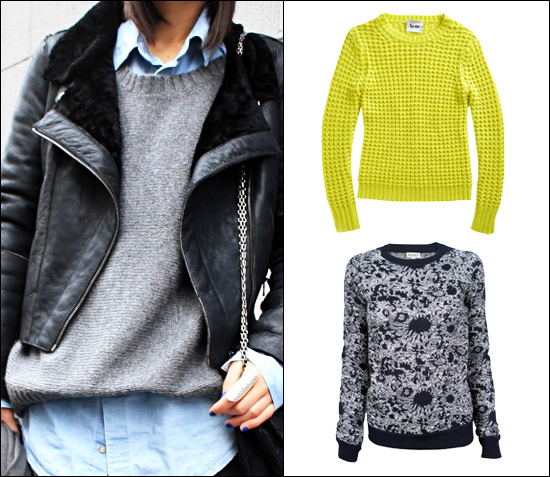 acne sweater, suno raglan sweater, knitwear