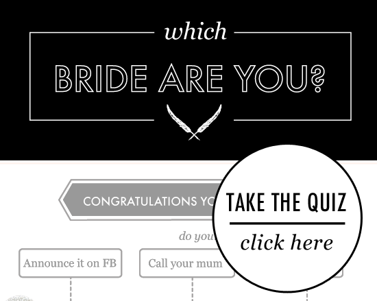 which bride are you take our quiz