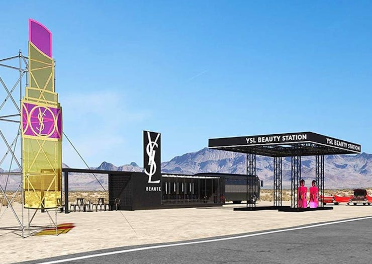 Take A Look At YSL's Pop-Up Beauty Gas Station In The Californian Desert