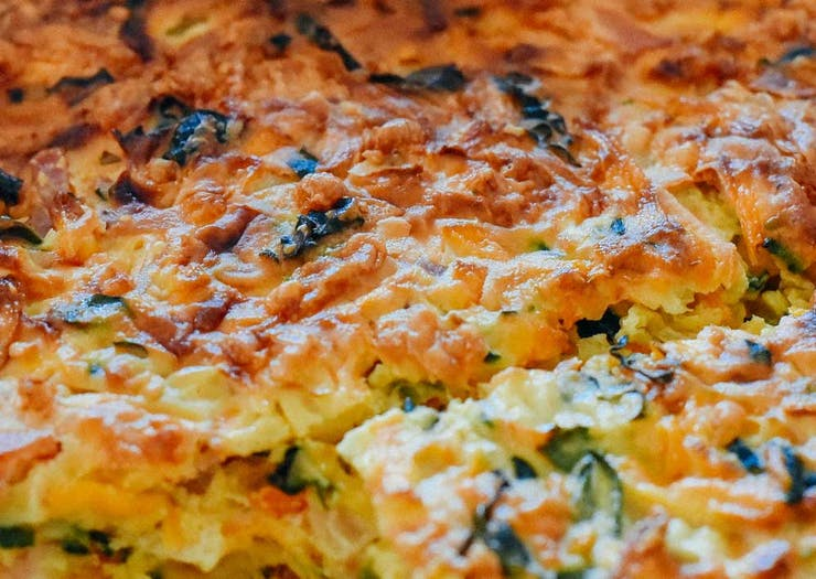 Use Up Those Leftover Zucchinis And Make The Perfect Zucchini Slice At Home