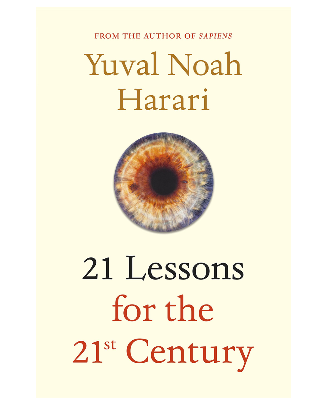 book cover that reads 21 lessons of the 21st century
