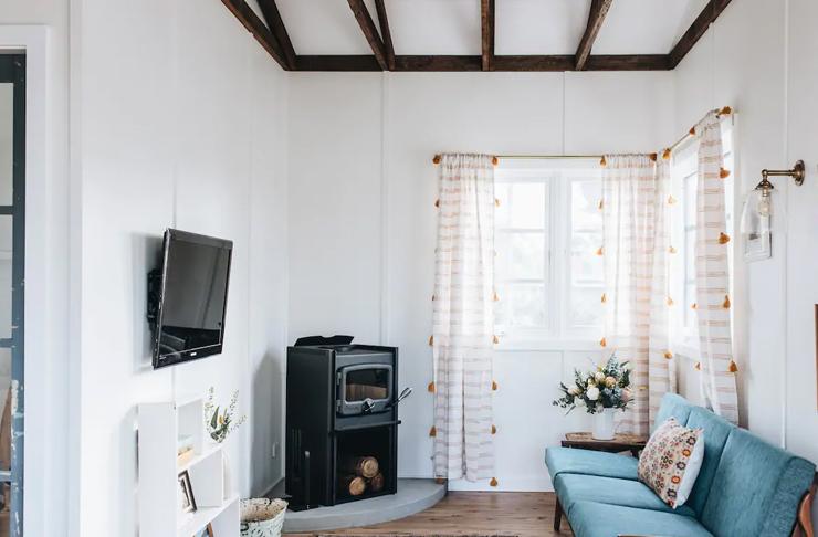 lounge rooom of restored cottage