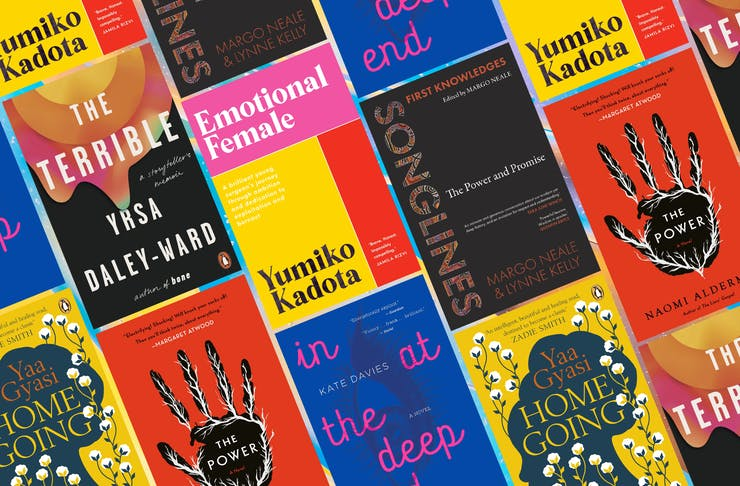 collage of epic female written books