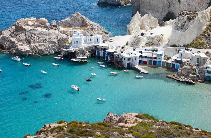 milos greek islands