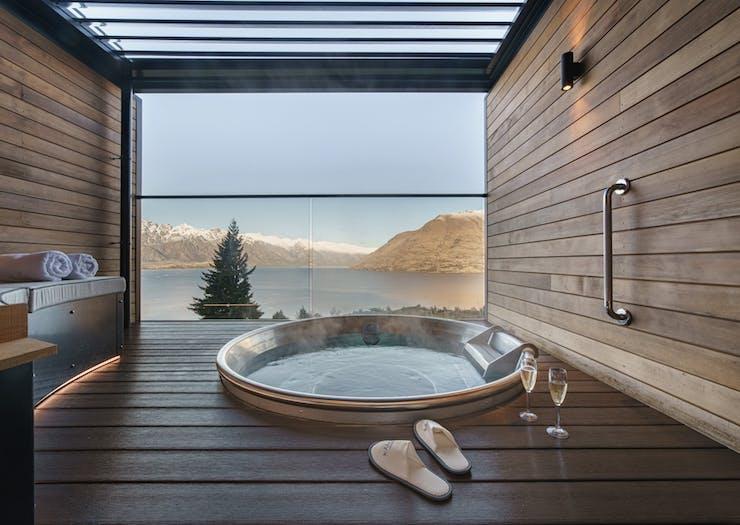 a spa bath