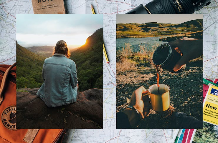 collage of travel imagery