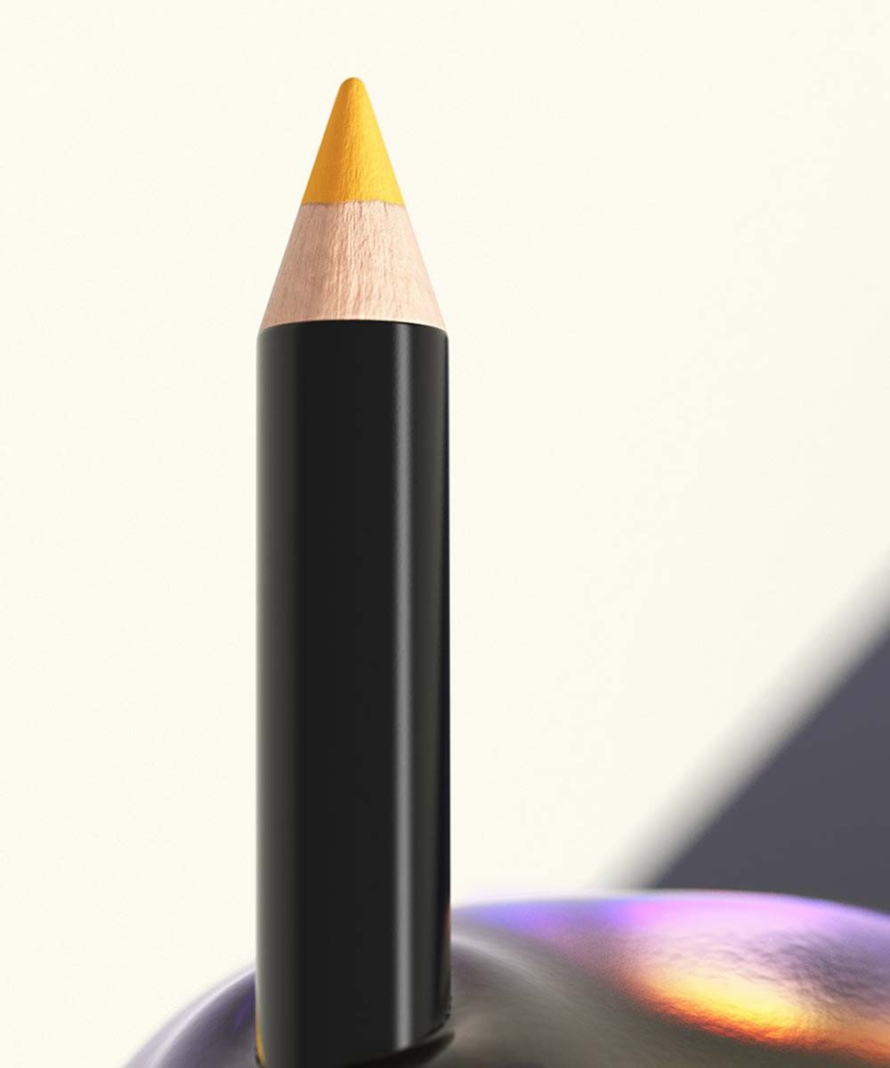 a yellow eye pencil