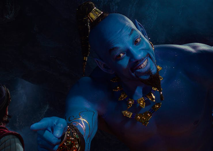 Watch Will Smith As The Blue Genie In Disney's Latest Aladdin Trailer