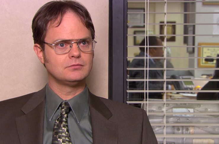 screen grab of dwight schrute from the office