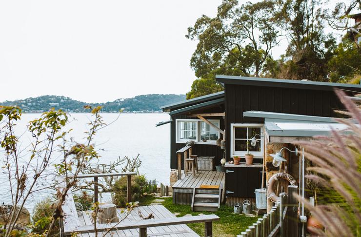moody beach shack