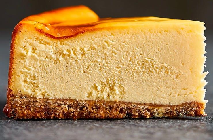 delicious slice of new york style cheesecake