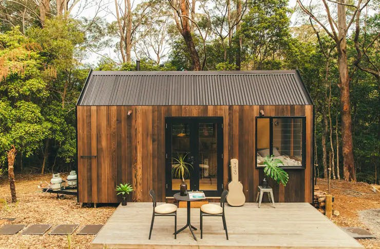 tiny home in forest