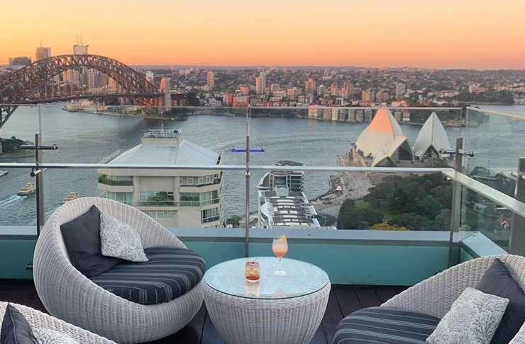 deck chairs on rooftop sydney