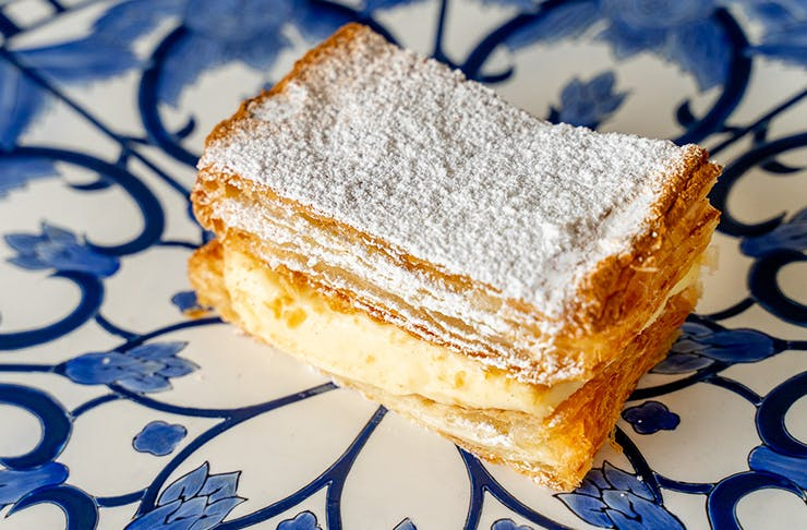 vanilla slice on plate