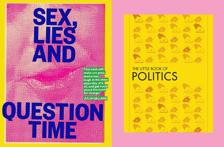 collage of political books