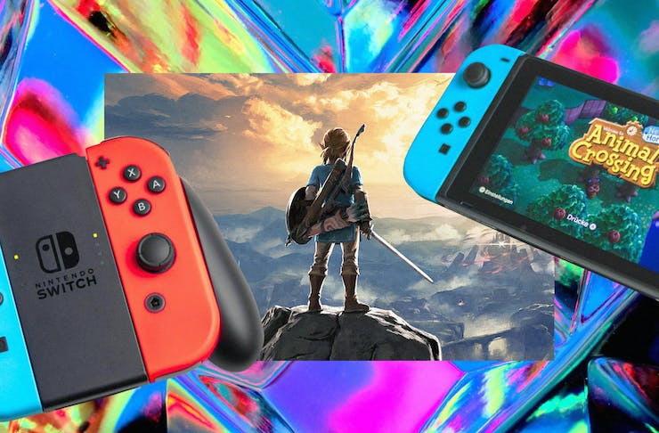 collage of best nintendo switch games