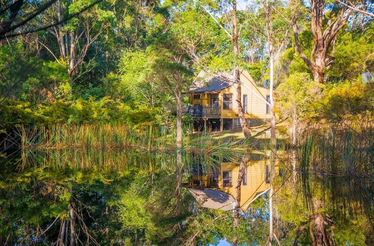 cottage near a billabong