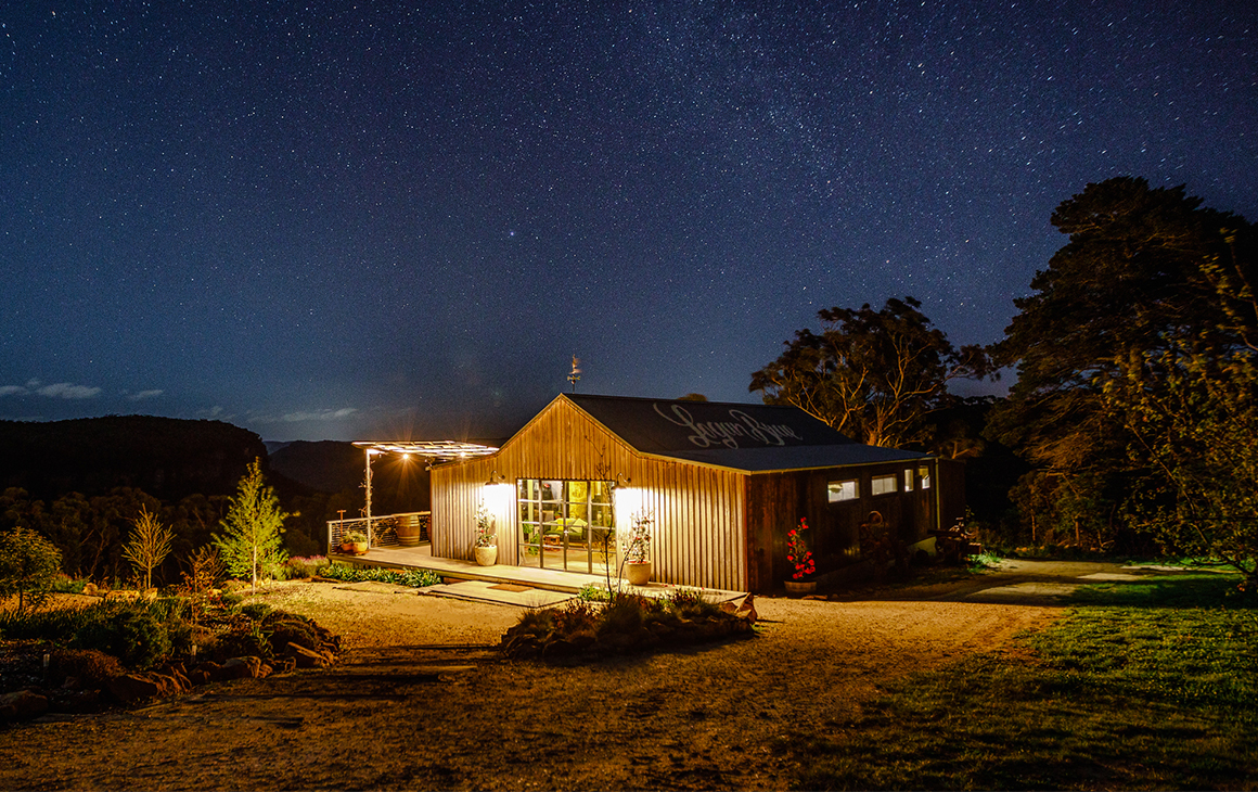 A starry sky above the Apple Orchard farm stay
