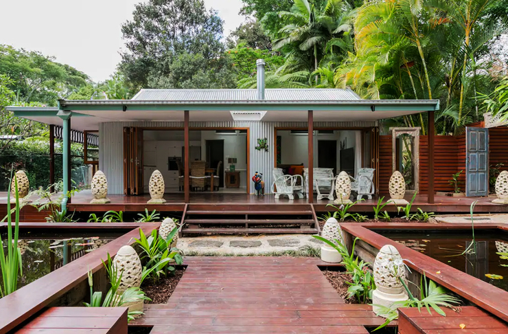 bali inspired cottage