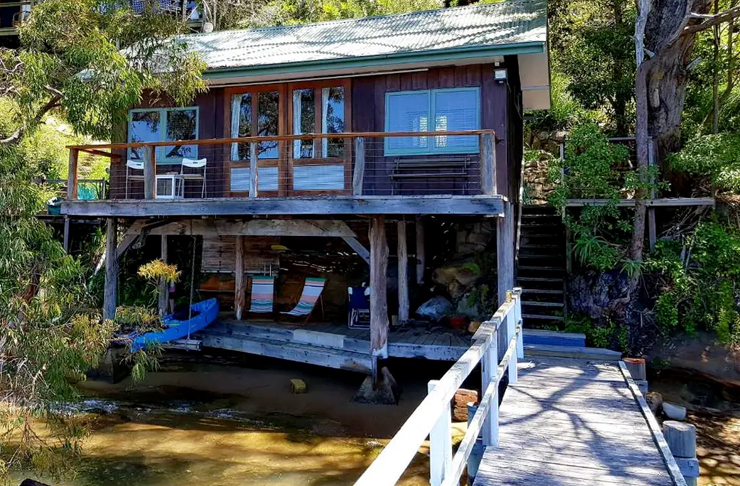 boat house near water